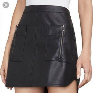 BCBGMaxAzaria Black Faux Leather Skirt